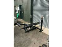 Powertec weight bench with extras