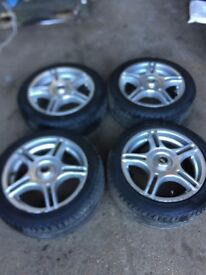"TSW Vauxhall Corsa Alloy wheels and tyres 15"""