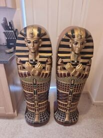Egyptian Storage Cabinets and Lamp