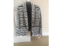 BRAND NEW MANGO black and white blazer jacket XS
