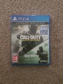 Call of duty infinate warfare and modern warfare ps4