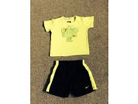 Boys nike tshirt and shorts set, age 2 years