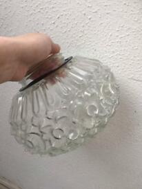 Glass lampshade vintage style