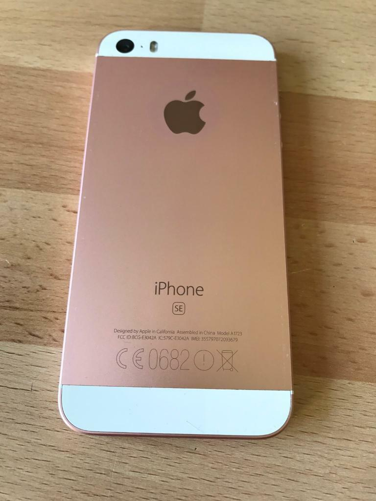 iphone se 16gb mint condition rose gold on 3 in. Black Bedroom Furniture Sets. Home Design Ideas