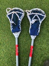 Lacrosse Sticks x2 - Kids Lacrosse Sticks
