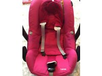 maxi cosi 2wayfix pink pebble car seat