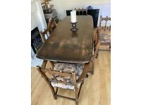 Ercol 7 piece table and chairs dining suite