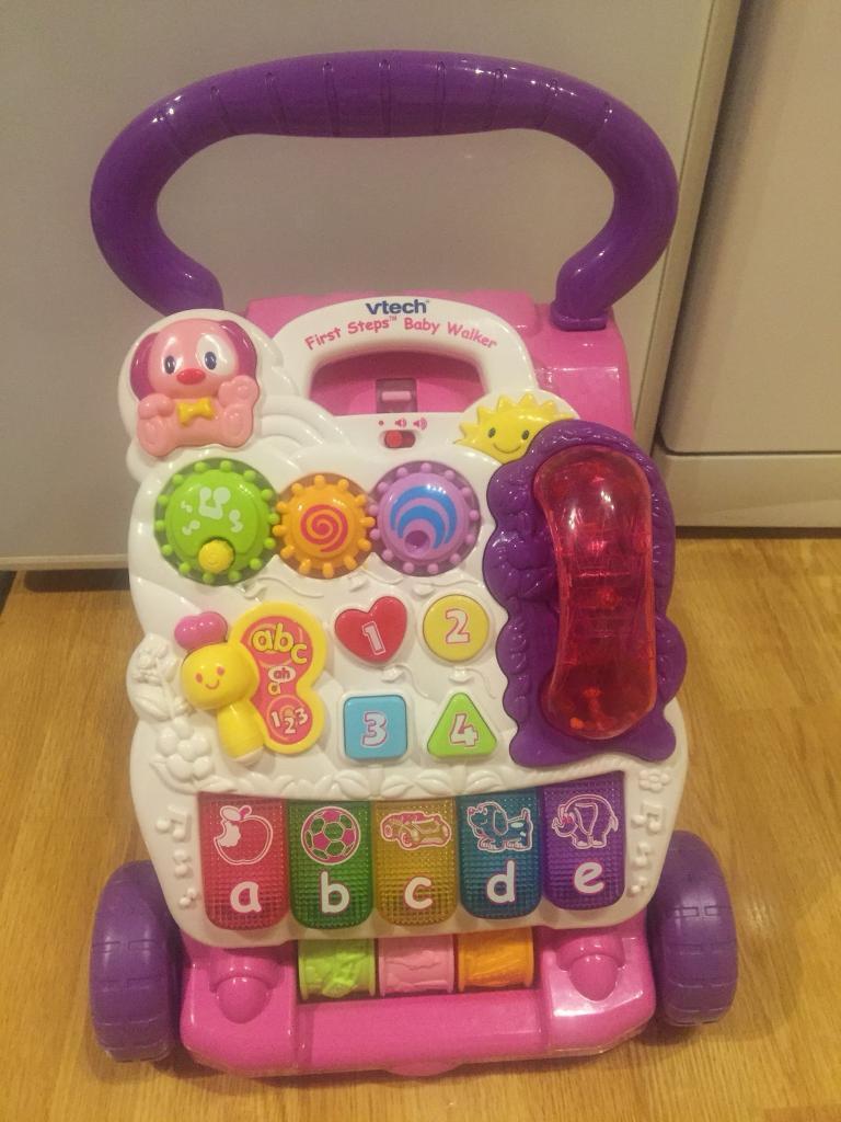 Vtech First Steps Babu Walker - Pink