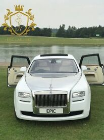 Wedding Car Hire, Rolls Royce Hire, Chauffeur Hire, Limousine Hire, Prom, Airport Hire, Business
