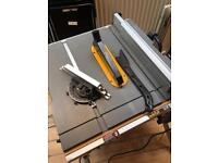 Dewalt 744xp tablesaw and rolling stand