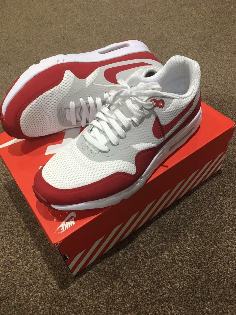 6d74c75fec8 Nike Air Max 1 Ultra Essential Trainers Red White