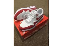 Nike Air Max 1 Ultra Essential Trainers Red/White