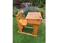 Pair of Antique Desks with inbuilt chair - great children's desks