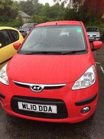 Hyundai i10 Comfort Red Petrol Car 1248 Manual - 12 mths MOT - reduced!
