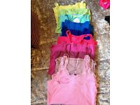 10 womens/girls vest tops size 10/small