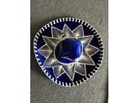 Blue & Silver Mexican Hat