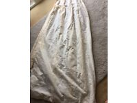 Long lined cream curtains for sale