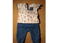 NEVER WORN. NEXT baby 2 piece outfit. 3-6 mths