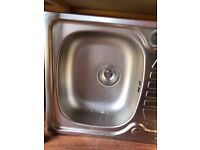 New Franke single bowl stainless steel sink