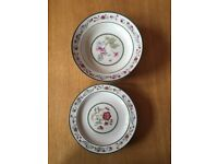 2 styles of saucers (8 pieces)