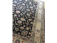 Large wool rug hand knotted,