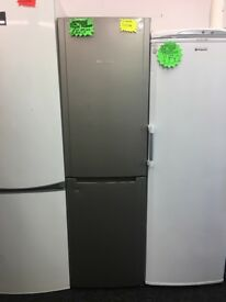 HOTPOINT TALL FROST FREE FRIDGE FREEZER IN GREY