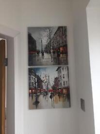 Two canvas prints - Paris