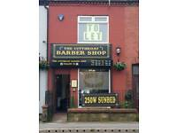 Space to let above Barbershop