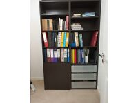 2x IKEA BESTA Cabinet Unit W120xD40xH192cm Black-Brown FOR FREE
