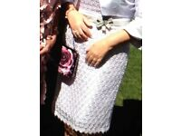 Mother of the Bride very classy pale lilac lace dress with a matching Bolero Jacket