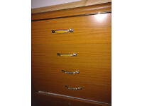 5 Drawer Brown Chest Of Drawers + Table + Sofa