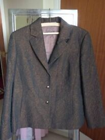 Libra jacket size 16 (lined) bronze sheen with raised pattern.