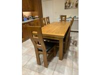 ***NOW SOLD***Oak extending table and 8 chairs