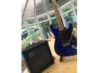 Roland Cube 15x and Westfield Stratocaster Amp & Guitar