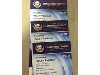 Pakistan v India Tickets ICC Champions Trophy Eric Hollies Stand, Stanley Barnes, Family Section