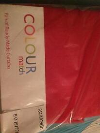 46x72 red curtains (poppy) brand new