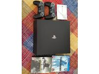 PS4 Pro 1TB with 2 controllers, tomb raider and call of duty infinite warfare