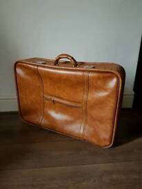Large vintage style suitcase