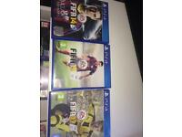 Collection of fifa games