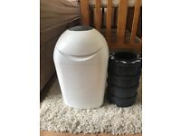 Tommee tippee sangenic starter pack nappy bin with five filters