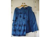 Vintage Harrods very elegant beautiful material evening dress size 14