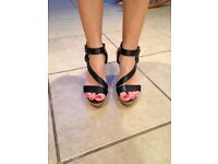 wedge sandals from new look black size 5/38