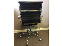 Two brown leather executive office chairs. Can be sold together or separately