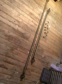 Curtain Poles with wrought iron baskets at both ends can be cut down to size you require.