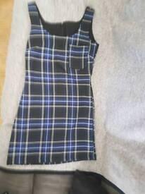 Hand made tartan pinifor dress