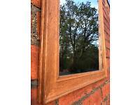 Antique Solid oak Framed Mirror