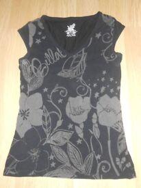 Billabong Black patterned Top - Size 4 (12-14)