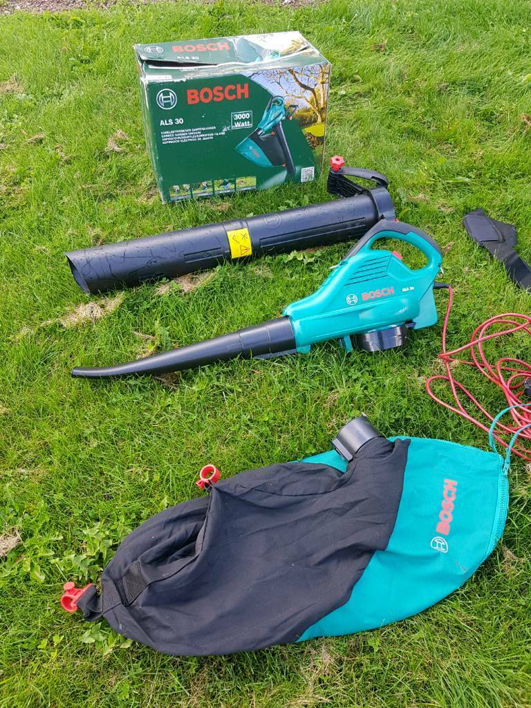 bosch als 30 3000w corded leaf blower used once in bromyard herefordshire gumtree. Black Bedroom Furniture Sets. Home Design Ideas
