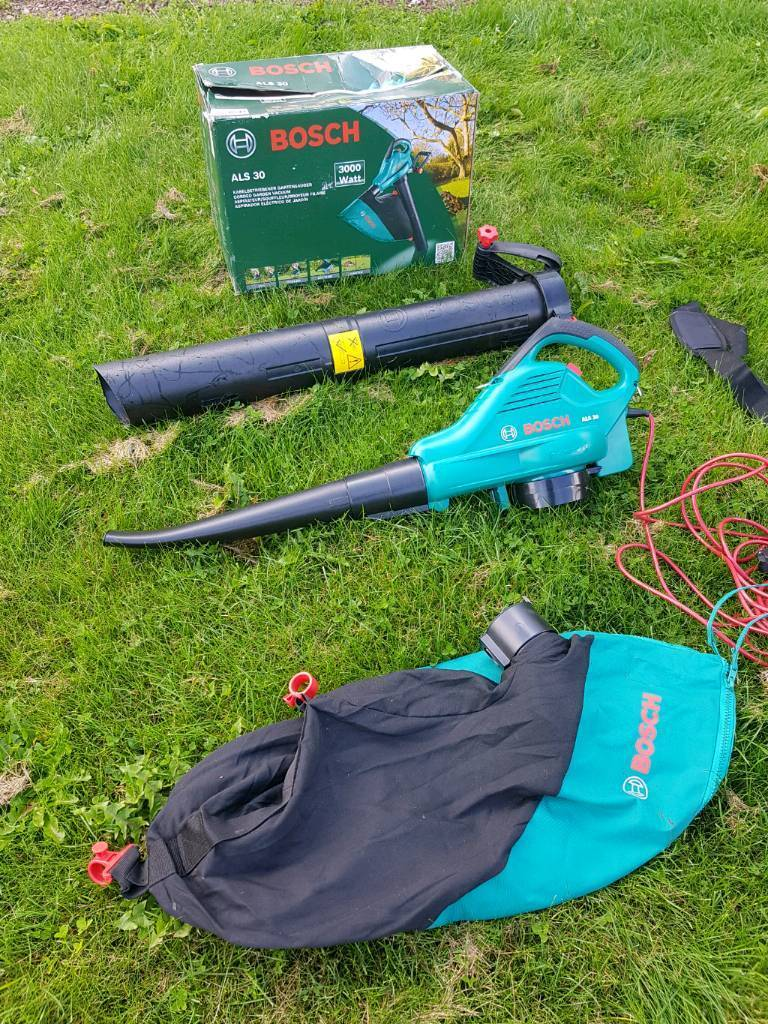 Bosch Als 30 3000w Corded Leaf Blower Used Once In