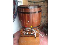 Wine rack and wine barrel